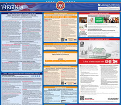All-in-one va labor law poster